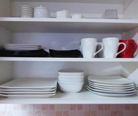Kitchen plates and cups