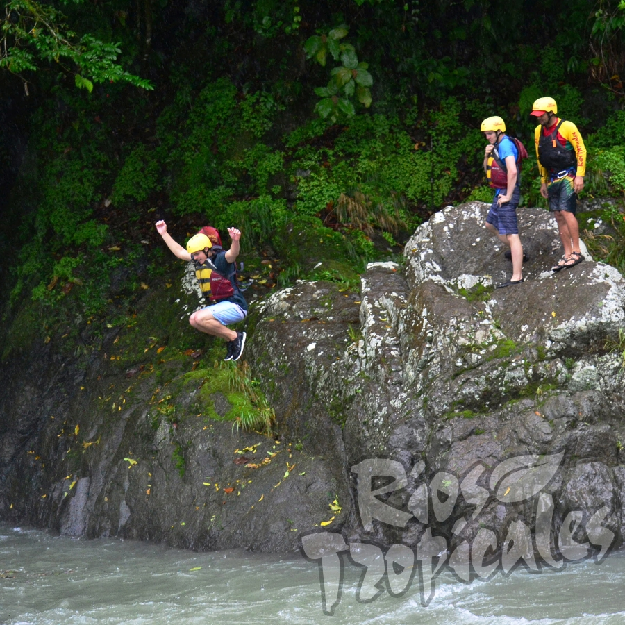 Pacuare river jump