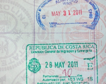 costa rica passport stamp